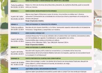 Actividades de julio en los CEAs Polvoranca y Bosquesur