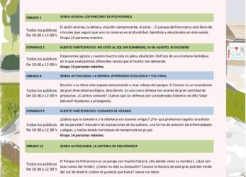 Agosto 2020 CEA Polvoranca y CEA Bosque Sur