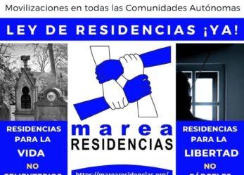 Manifestación estatal 26 de septiembre: Ley de Residencias ¡Ya!