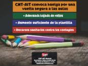 CNT-AIT convoca huelga por una vuelta segura a las aulas