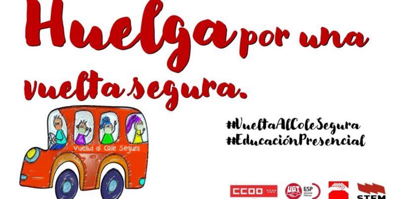 CCOO, UGT, CGT y STEM anuncian huelga del profesorado de Madrid