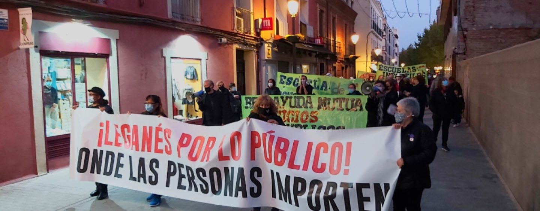 El Ayuntamiento de Leganés se desentiende de la manifestación vecinal y sus demandas