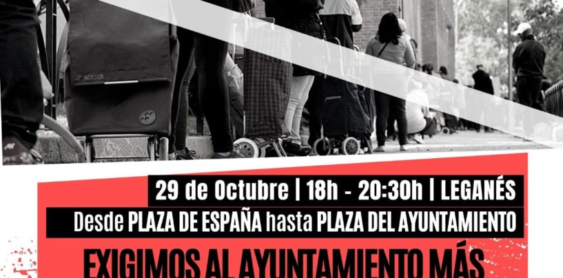 El Ayuntamiento de Leganés no cubre las necesidades básicas de la ciudadanía