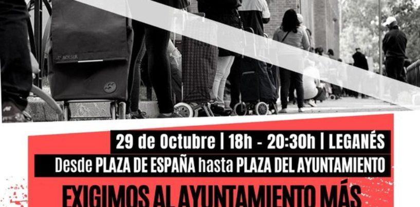 Manifestación: La red de apoyo mutuo alerta de una situación insostenible