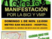 Manifestación-bicicletada por la bici y los vehículos de movilidad personal