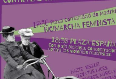 25N: bicimarcha contra las violencias machistas