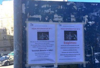 Nota de prensa sobre el pésimo servicio de la Red Neumática de Basura, en Zarzaquemada
