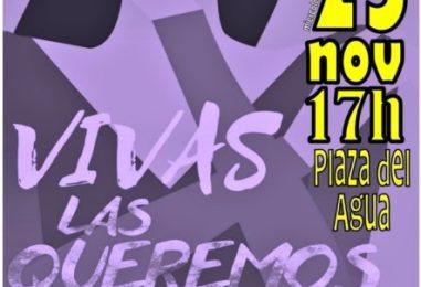 25N – Acto Día Internacional de la Eliminación de la Violencia contra la Mujer en la Plaza del Agua