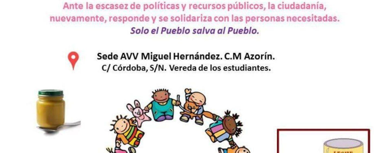 Recogida Solidaria de Productos de alimentación infantil para Comisión Ciudadana del Proyecto del Menor de Leganés