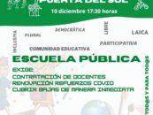 Concentración en la Puerta del Sol por los docentes de la Escuela Pública