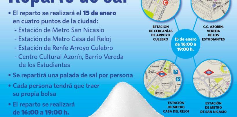 El Ayuntamiento reparte 12 toneladas de sal entre los vecinos el viernes 15