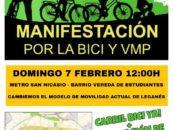 Manifestación por la bici y vmp