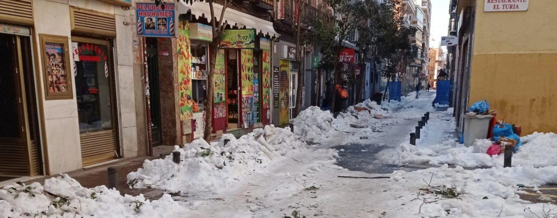 FRAVM: Incidencias nevada Filomena