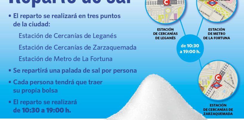 El Ayuntamiento reparte 6 toneladas de sal entre los vecinos el jueves 14