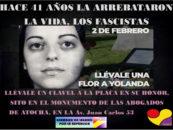 Hace 41 años del asesinato de Yolanda González