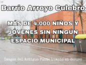 Nos prometen otra vez el centro cultural en Arroyo Culebro