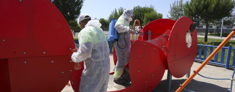 Reabiertas 124 áreas infantiles de Leganés tras ejecutar labores de limpieza, desinfección y mantenimiento