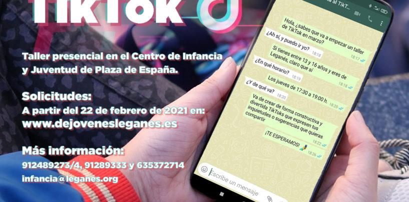 'Dale la vuelta al TikTok', el taller de creación de vídeos que servirá como espacio de reflexión para los jóvenes de Leganés