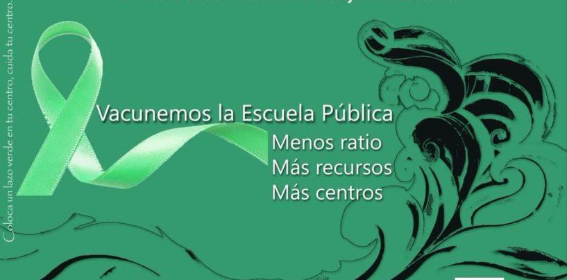 """17-4-2021: Manifestación """"Vacunemos la Escuela Pública: menos ratio, más recursos, más centros"""""""