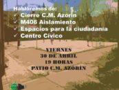 Acto Informativo 30 de abril en Vereda de los Estudiantes