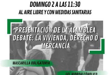 Presentación de la Asamblea Popular de Leganés. Debate: la vivienda, derecho o mercancía