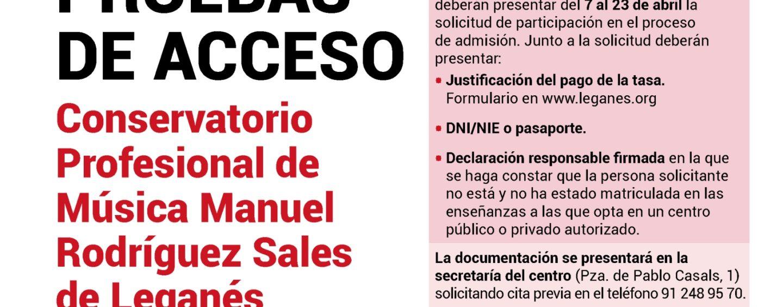Abierto el proceso de solicitud para las pruebas de acceso al Conservatorio Profesional de Música Manuel Rodríguez Sales