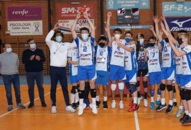 El Cadete Masculino del Club Voleibol Leganés se proclama líder de Madrid