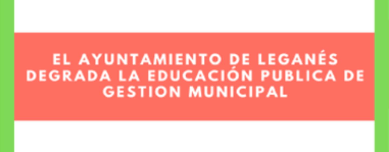 Campaña informativa de Escuelas Infantiles, Casas de niños y Escuela-Conservatorio de Leganés.