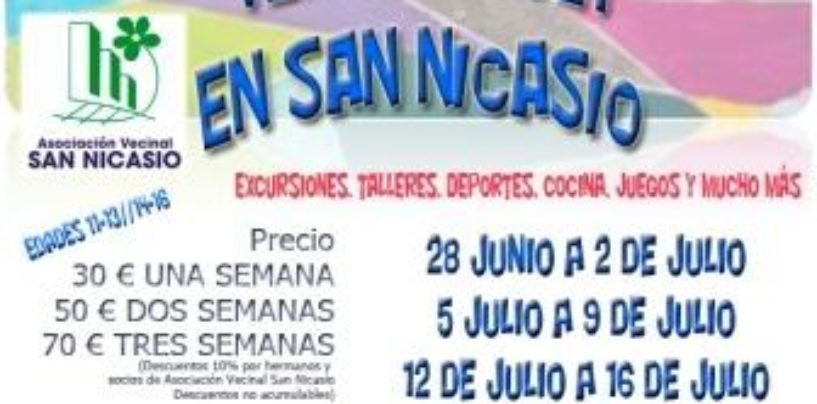 Campamento urbano San Nicasio verano 2021
