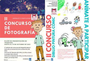 """La FAPA """"Francisco Giner de los Ríos"""" organiza la II Convocatoria del concurso de dibujo, pintura o cómic y el II Concurso de fotografía FAPA Derechos de la Infancia"""